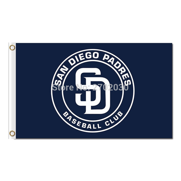Circular Design San Diego Padres Flag World Series Champions Baseball Cub Fans Team Flags Banner 3x5ft Banners