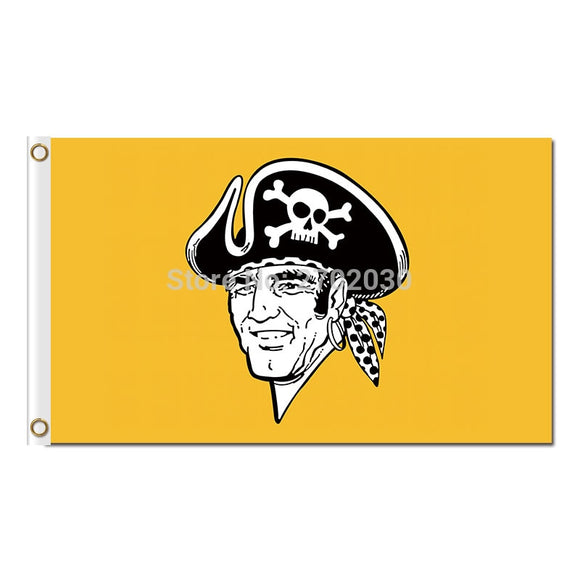Yellow Pittsburgh Pirates Flag Baseball World Series Champions Super Fans Team Flags Banner 3x5 Ft Banners 100D Polyester