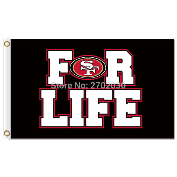 San Francisco 49ers champions Flag 3ft x 5ft for life San Francisco 49ers flag banner 2016