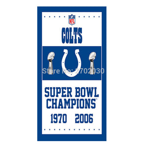 Super Bowl Champions Indianapolis Colts Flag 100D Polyester Flag Outdoor Flag 3x5ft Super Bowl Fan Champions World Series