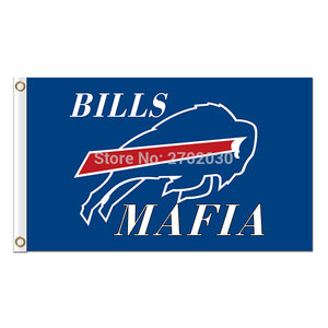 Buffalo Bills Mafia Flag Football Team World Series Super Bowl Champions 90x150 Cm 100D Polyester Printed Blue Banner