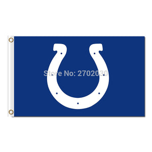 U Indianapolis Colts Flag World Series Football Team 3 X 5 ft Helmet Banner Super Bowl Champions Flag 100D Polyester