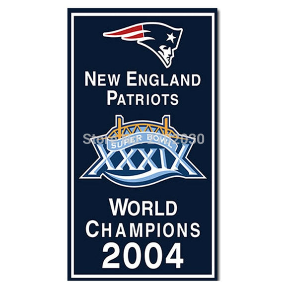 New England Patriots Flag Xxxvi Football Team Banner 90 X 150 Cm Series Super Bowl World Champions Custom Banners 2004