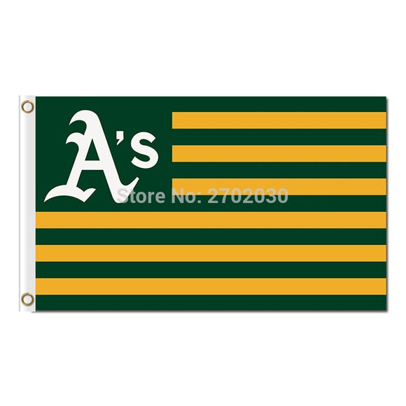 America Us Design Oakland Athletics Flag Baseball World Series Champions Super Fans Team Flags Banner 3x5 Ft Banners Polyester