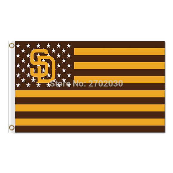 America Us Design Country San Diego Padres Flag World Series Champions Baseball Cub Fans Team Flags Banner 3x5ft Banners