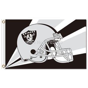 Helme Banner Oakland Raiders Flag Helmet NFL Premium Team Football Flags 3ft X 5ft World Series Oakland Raiders Flag
