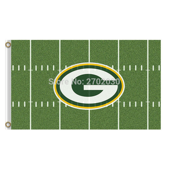 Green Bay Packers Flag Banners Sport Football Team Flags 3x5 Super Bowl Champions Banner Fans World Series