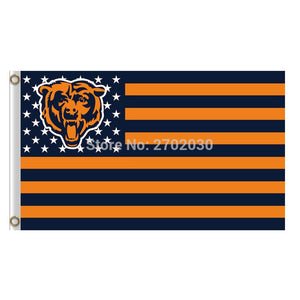 Us Star And Strip America Chicago Bears Flag Banners Football Team Flags 3x5 Ft Super Bowl Champions Banner Bear