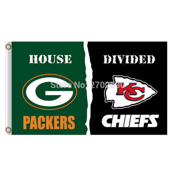 Green Bay Packers Flag Vs Kansas City Chiefs Football Team Flags 3x5 Super Bowl Champions Banner Fans Banners Custom