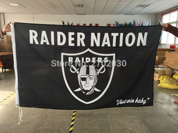 RAIDER NATION Oakland Raiders US Flag Supper Team Banner Fan Football 3ft * 5ft All Flying Custom Flag 100D Digital Printing 010