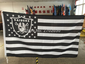Oakland Raiders US Flag With Star And Stripe 3x5 FT Banner USA 100D Polyester NF*L Flag Oakland Raiders Banner Flag