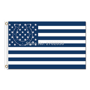 N*FL Indianapolis Colts Flag 100D Polyester Stars And Stripes Flag Metal Grommets 90x150cm Outdoor Flag 3x5ft Super Bowl Fan