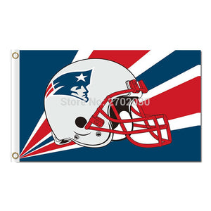 Helmet Patriots Flags Football Sport Team Banners 90 X 150 Cm World Series Banner Super Bowl Champions New England Patriots Flag