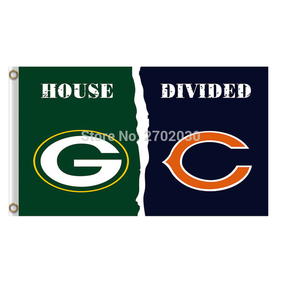 Green Bay Packers Flag Vs Chicago Bears Banners Sport Football Team Flags 3x5 Super Bowl Champions Banner Fan World Series