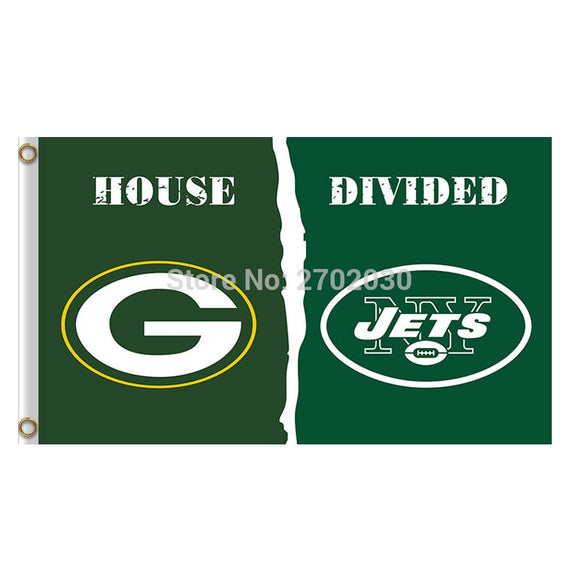Green Bay Packers Flag Vs New York Jets Banners Sport Football Team Flags 3x5 Ft Super Bowl Champions Banner 90 X 150 Cm