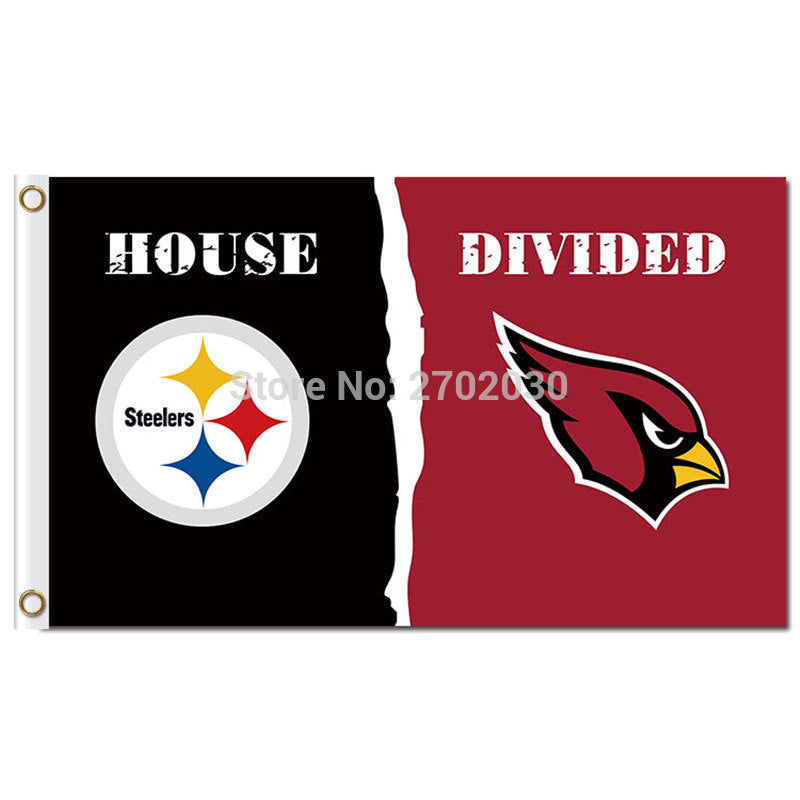 Pittsburgh Steelers Flag Vs Arizona Cardinals Flag 3ft X 5ft World Series Football Team Steelers And Arizona Cardinals Banner