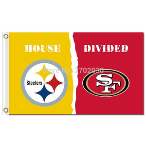Pittsburgh Steelers Flag Vs San Francisco 49ers World Series Football Team 3ft X 5ft Steelers And 49ers Banner Flag