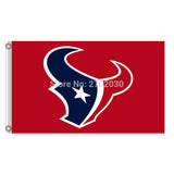 Red Blue Gray Design Country Houston Texans Flag Banners Football Team Flags 3x5 Ft Super Bowl Champions Banner Texan 90x150cm