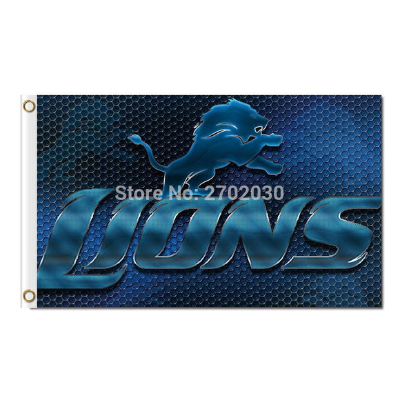 Lions Design Blue Detroit Lions Flag Team Sport Super Bowl Champions 90x150 Cm Banners Lion Flag Flying 3ft X 5ft