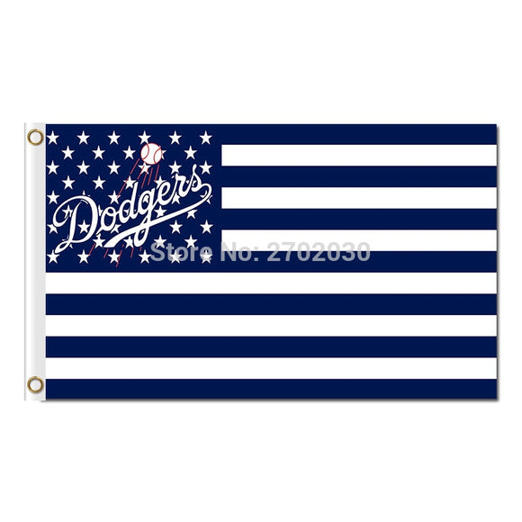 Us Design Country Los Angeles Dodgers Flag World Series Champions Baseball Fans Team Banners Flags 3x5ft Blue Banner