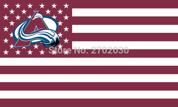 Colorado Avalanche Ice Hockey Sports Star Stripe National Team Flag 3ft X 5ft Custom Banner With Sleeve Gromets 90*150CM