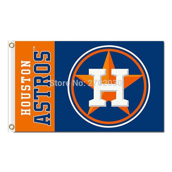 Houston Astros Flag Star Design City Baseball Super Fan Team Banners Major League Flags World Series Champions Banner 3x5ft