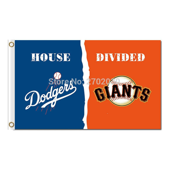 Los Angeles Dodgers Flag Vs San Francisco Giants World Series Champions Baseball Fans Team Banners Flags 3x5ft Blue Banner