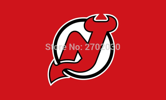New Jersey  Devils National Ice Hockey Sports Team 3ft X 5ft Custom Banners Flags With Sleeve Gromets 90*150CM