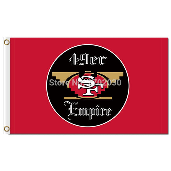 San Francisco 49ers Empire Football Banner 3X5FT 150X90CM Banner Oakland Raiders Usa Flag Football San Francisco 49ers Banner