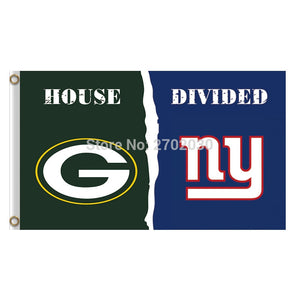 Green Bay Packers Flag Vs New York Giants Banners Sport Football Team Flags 3x5 Ft Super Bowl Champions Banner 90 X 150 Cm