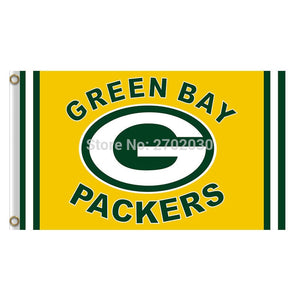 Go Pack Custom Yellow Design Green Bay Packers Flag Football Team Flags 3x5 Super Bowl Champions Banner Fans Banners Custom