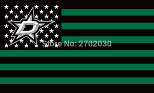 Dallas Stars Hockey Sports Team Star & Stripe US National Flag 3ft X 5ft Custom Banner With Sleeve Two Gromets 90*150CM