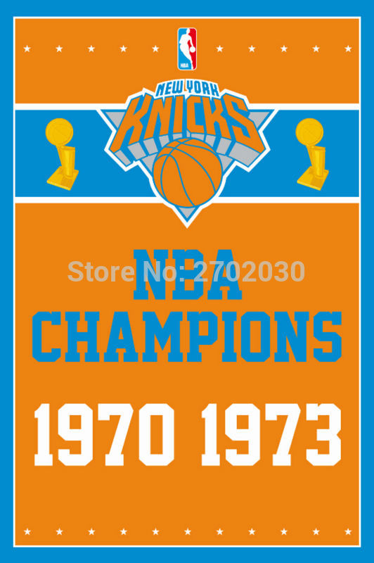 New York Knicks Basketball Team Champion Flags Banners Home Deco 100D Polyester 3*5ft customized Flag