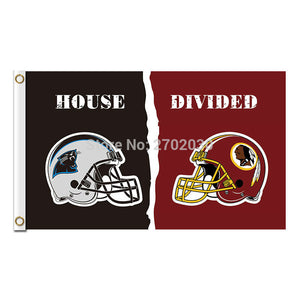 Carolina Panthers Flag Vs Washington Redskins Football Team 3ft X 5ft Banner Super Bowl Champions Carolina Panthers Banner