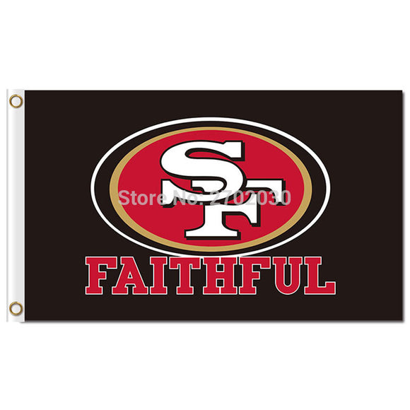 San Francisco 49ers FAMILIA Football Banner Flag And Custom Sports Banner San Francisco 49ers