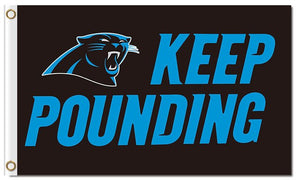 Keep Pounding Carolina Panthers Flag Football Team 3ft X 5ft Banner World Series Super Bowl Champions Custom Flag