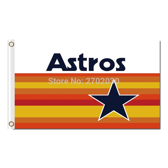 Astro Houston Astros Flag Baseball Super Fan Team Banners Major League Flags World Series Champions Banner 90x150 Cm