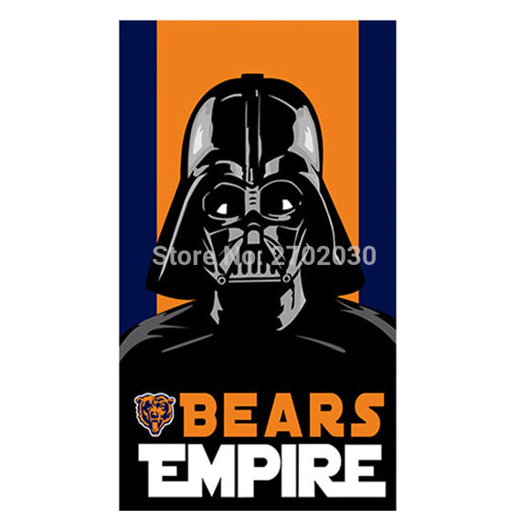 Bears Empire Chicago Bears Flag Banners Football Team Flags 3x5 Ft Super Bowl Champions Banner 90x150cm Bear