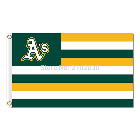 Us Design America Oakland Athletics Flag Baseball World Series Champions Super Fan Team Flags Banner Banners 100D Polyester