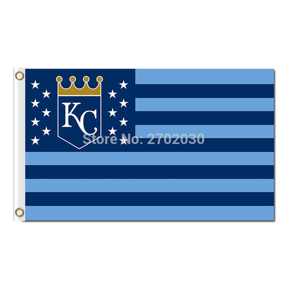 America Design Kansas City Royals Flag Baseball Fan Team Banners Flags World Series Champions Banner 90x150cm Polyester