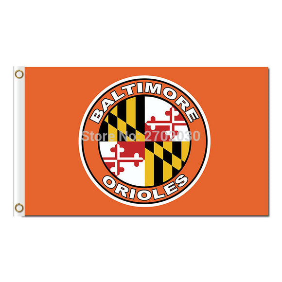 Baltimore Orioles Flag Baseball Team Custom Logo Banners 3x5 Ft Major League Baseball Flags Banner Orange