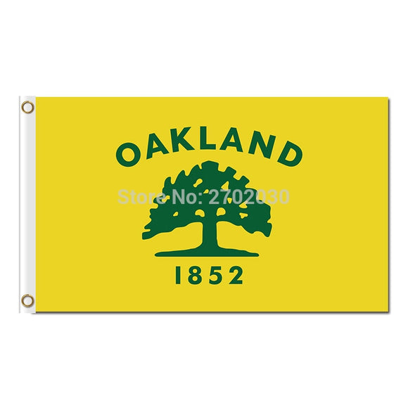 Oakland Athletics 1852 Tree Flag Baseball World Series Champions Super Fan Team Flags Banner 3x5 Ft Banners 90x150cm
