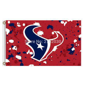 Red Camouflage Houston Texans Flag Banners Football Team Flags 3x5 Ft Super Bowl Champions Banner Texan World Series 90x150 Cm