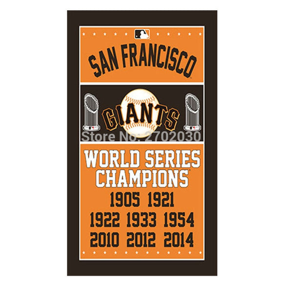 San Francisco Giants Flag World Series Champions SPORT Baseball Cub Fans Team Flags Banner 90X150CM Banners