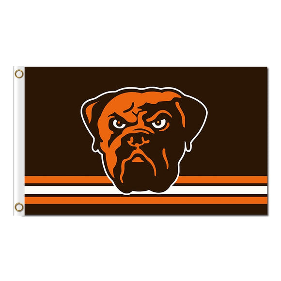 Black Orange Strip Custom Cleveland Browns Flag Football Team Super Bowl Champions World Series Football Fan 3ft X 5ft Banner