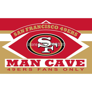 San Francisco 49ers Fans Only Flag MAN CAVE Banner Flag World Series Football Team 3ft X 5ft Banners San Francisco 49ers Flag