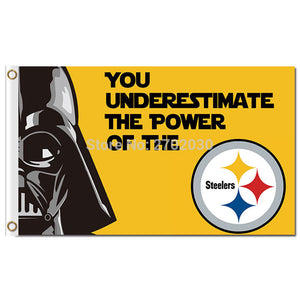 3X5FT N*FL 3x5ft Pittsburgh Steelers Flag 100D Polyester Flag World Series Capita Metal Grommets 90x150cm Outdoor Flag