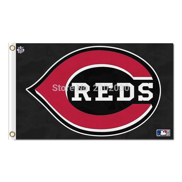 Black Cincinnati Reds Stockings Flag Baseball Super Fans Team Banners Major League Flags Champions 3x5 Ft Banner Red 90x150 Cm