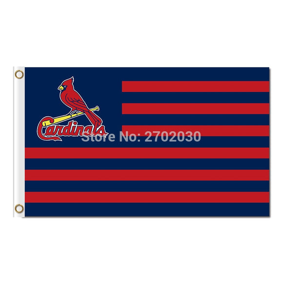 St Louis Cardinals Strip Flag Super Bowl Champions World Series Baseball Team Flags 3ft X 5ft Banners 100D Polyester