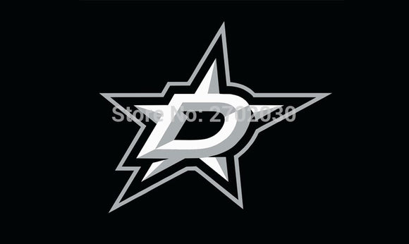 Dallas Star National Ice Hockey Sports Team Flag 3ft X 5ft Custom Banner With Sleeve Gromets 90*150CM